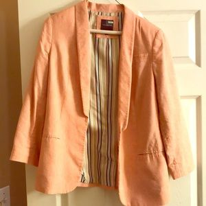 Nice peach colored linen jacket